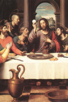 Our Lord Jesus gives us the Eucharist