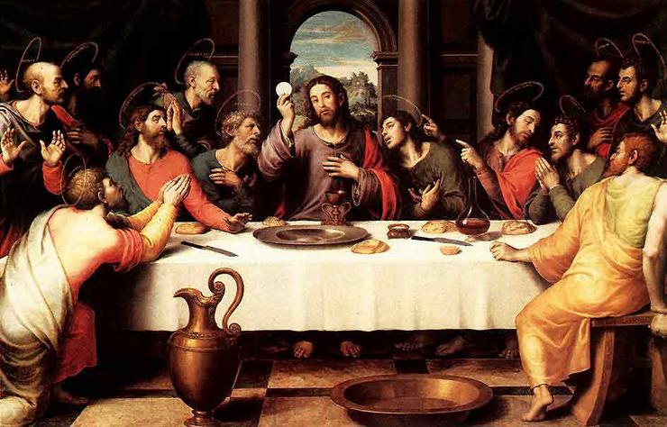 Jesus institutes the Holy Eucharist