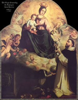 Our Lady gives St. Dominic the Holy Rosary